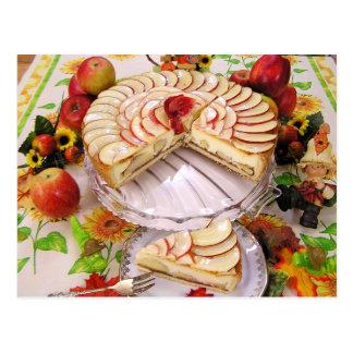 Cartão Postal Torta de Apple delicioso