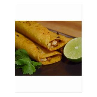 Cartão Postal Tortilhas Flautas