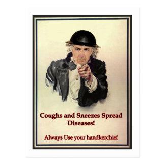 Cartão Postal Tosses & Sneezes
