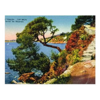 Cartão Postal Toulon, boné Brun, 1924