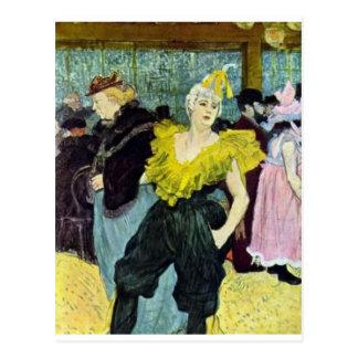 Cartão Postal Toulouse Lautrec a imagem do vintage de Clowness,