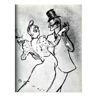 Cartão Postal Toulouse-Lautrec - La Goulue e Valentin, valsa