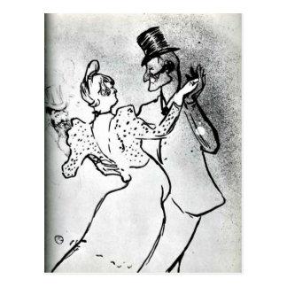 Cartão Postal Toulouse-Lautrec: La Goulue e Valentin, valsa