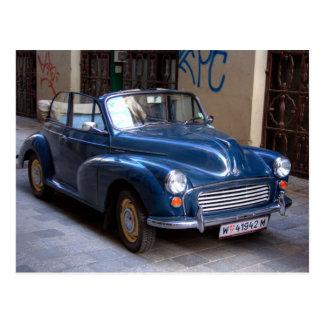 Cartão Postal Tourer convertível menor azul de Morris