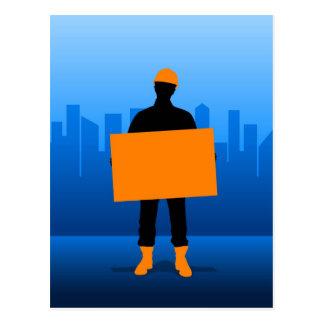 Cartão Postal Trabalhador da construção