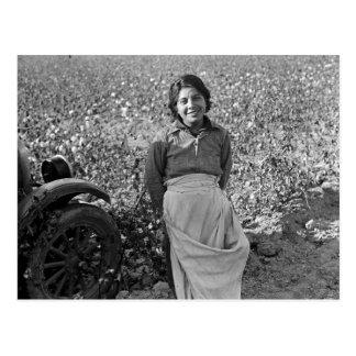 Cartão Postal Trabalhador emigrante no campo do algodão por