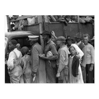 Cartão Postal Trabalhadores vegetais emigrantes: 1939