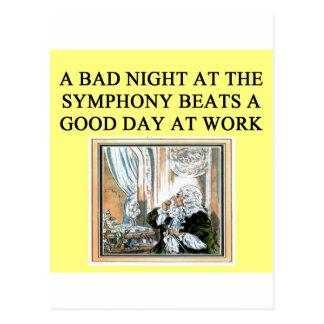 Cartão Postal trabalho da batida dos concertos
