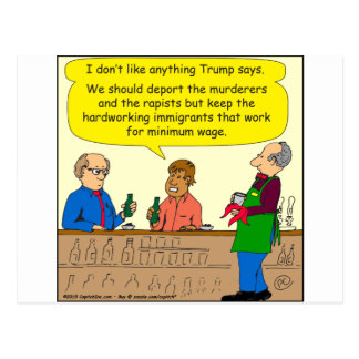 Cartão Postal trabalho de 753 imigrantes para desenhos animados