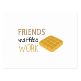 Cartão Postal Trabalho dos Waffles dos amigos