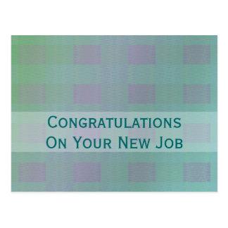 Cartão Postal trabalho verde pastel dos parabéns da cerceta