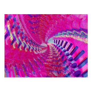 Cartão Postal Trabalhos de arte abstratos