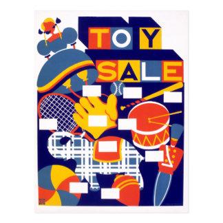 Cartão Postal Trabalhos de arte da venda do brinquedo do vintage