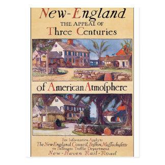 Cartão Postal Trabalhos de arte do poster das viagens vintage de