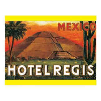Cartão Postal Trabalhos de arte do poster de viagens do Regis
