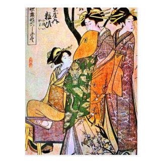 Cartão Postal Trabalhos de arte japoneses da gueixa do vintage
