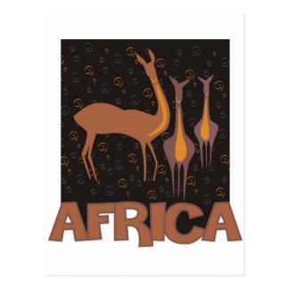 Cartão Postal Trabalhos de arte marrons africanos tradicionais
