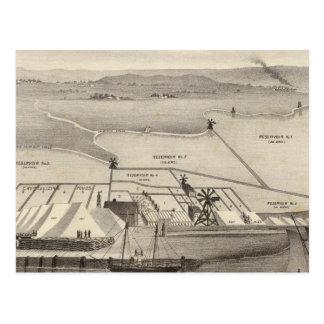 Cartão Postal Trabalhos de sal da ilha da rocha