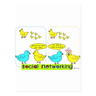 Cartão Postal Trabalhos em rede sociais