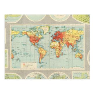 Cartão Postal Traço do mundo