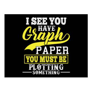 Cartão Postal Traço do papel de gráfico da matemática algo