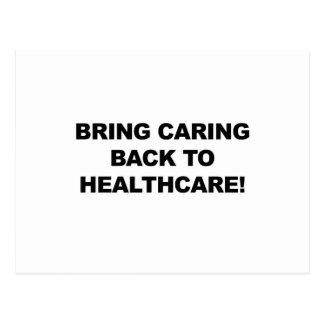 Cartão Postal Traga o inquietação de volta aos cuidados médicos