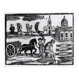 Cartão Postal Traga para fora seu morto, o grande praga de 1665