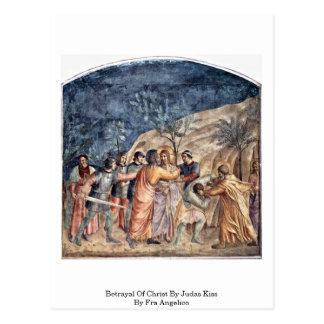 Cartão Postal Traição do cristo pelo beijo de Judas por Fra