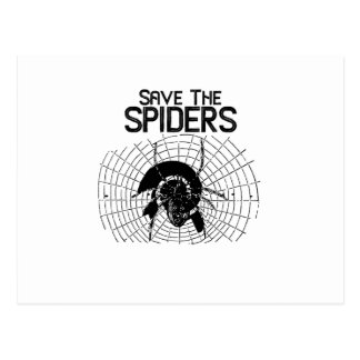 Cartão Postal Traje da Web de aranhas das economias do Dia das