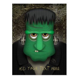 Cartão Postal Traje engraçado de Frankenstein o Dia das Bruxas