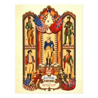 Cartão Postal Traje militar da revolução