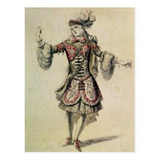 Cartão Postal Traje o design para um dançarino masculino, c.1681