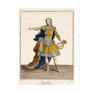"Cartão Postal Traje para Apollo na ópera ""Phaethon"", engrav"
