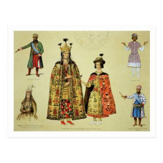 Cartão Postal Trajes do 17os e séculos XVIII, placa 56