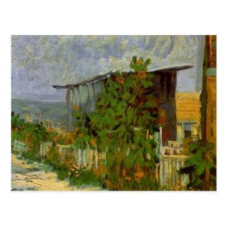 Cartão Postal Trajeto com girassóis, belas artes de Van Gogh