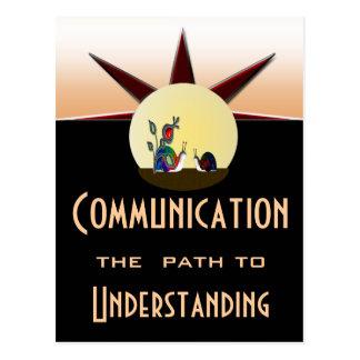 Cartão Postal Trajeto de comunicação à compreensão