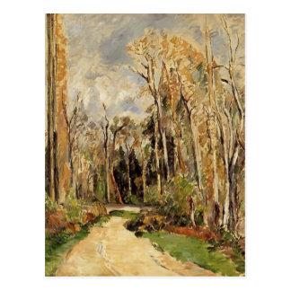 Cartão Postal Trajeto de Paul Cezanne- na entrada à floresta