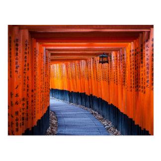 Cartão Postal Trajeto de Torii do santuário de Fushimi