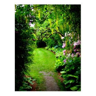 Cartão Postal Trajeto do jardim