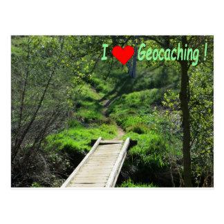 Cartão Postal Trajeto nas madeiras para Geocaching