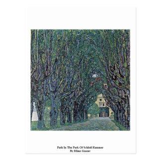 Cartão Postal Trajeto no parque de Schloß Kammer por Klimt