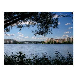 Cartão Postal Tranebergsbron, Éstocolmo, foto…