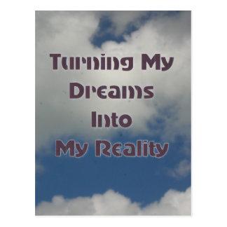 Cartão Postal Transformando seus sonhos na realidade