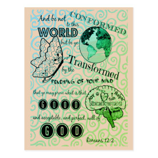 Cartão Postal Transforme o 12:2 dos romanos