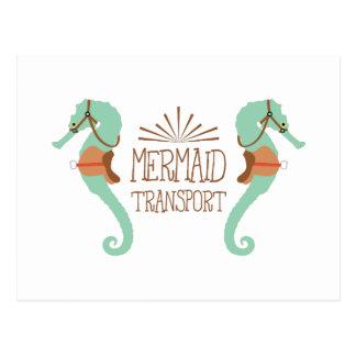 Cartão Postal Transporte da sereia