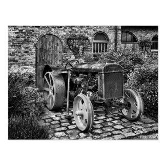 Cartão Postal Trator de Fordson do vintage, Bredbury Salão