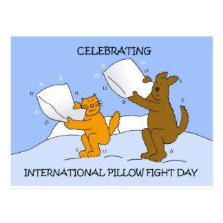 Cartão Postal Travesseiro luta dia o 2 de abril internacional