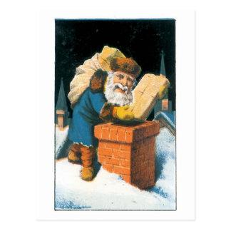 Cartão Postal Trazendo os brinquedos para bons meninas e meninos