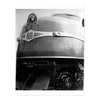Cartão Postal Trem 1939 da feira de mundo na exposição New Haven
