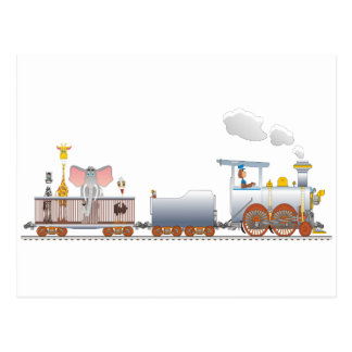 Cartão Postal Trem animal